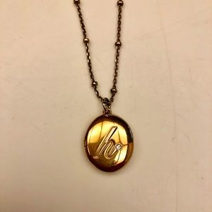 "Gold Kate Spade Initial ""H"" Locket Necklace"